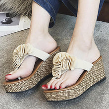 Load image into Gallery viewer, Floral Plain  High Heeled  Velvet  Peep Toe  Casual Date Slippers