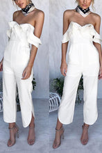 Load image into Gallery viewer, Fashion Off Shoulder Short Sleeves Jumpsuit