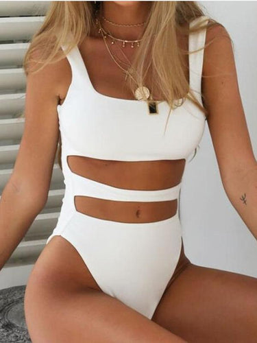 One-Piece Sexy Solid Color Bikini Swimsuit