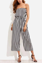 Load image into Gallery viewer, Summer Fashion Stripe Off Shoulder Jumpsuit