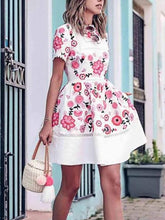 Load image into Gallery viewer, British Style Print Pleated Skater Dress