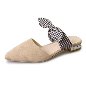 Fashion Thick Heel Lazy Slippers