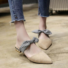 Load image into Gallery viewer, Fashion Thick Heel Lazy Slippers