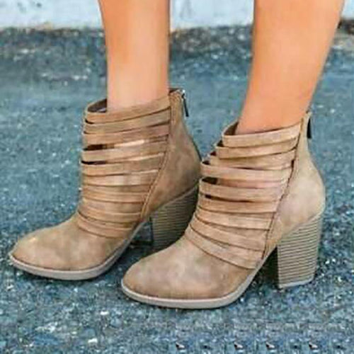 Fashion High Thick Heeled Boots