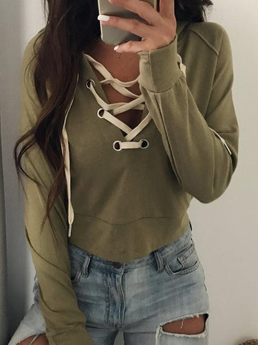 Strap Short Long Sleeve Sweater