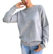 Load image into Gallery viewer, Solid Color Round Neck Personality Back Strap Long Sleeve Hoodie