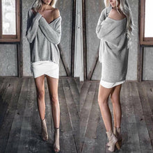 Load image into Gallery viewer, Long Sleeve Shoulder Top Fashion Strapless  Sweater