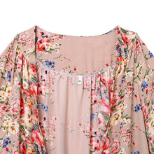 Load image into Gallery viewer, Vintage Chiffon Print Lace Stitching Shawl Cardigan