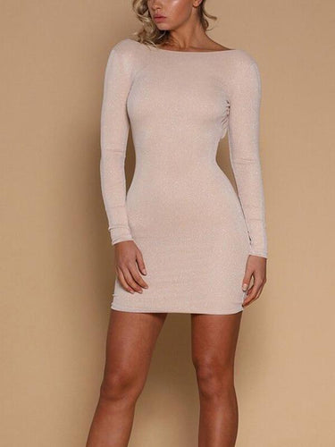 Sexy Backless Tight Bodycon Dress