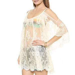 Sexy Off-Shoulder Beach Sun Protect Vacation Dress