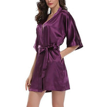 Load image into Gallery viewer, Kimono Lace Up Nightgown