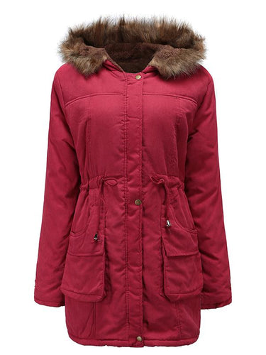 Winter Hooded Cashmere Padded Coat