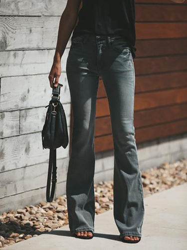 Retro Denim Bell Jeans