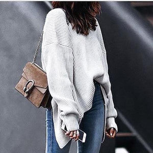 Sexy Backless Long Loose Fit Sweater