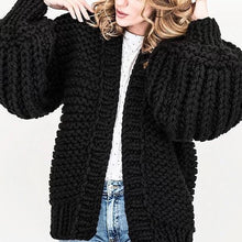 Load image into Gallery viewer, Winter Loose Fit Lantern Sleeve Sweater Cardigan