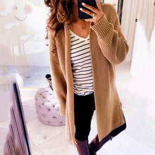 Load image into Gallery viewer, Fashion  Solid Color Casual Loose Cardigans