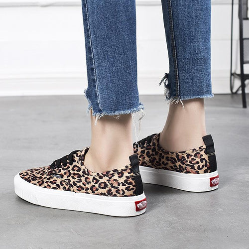 Casual Leopard Printed Flat Shoes