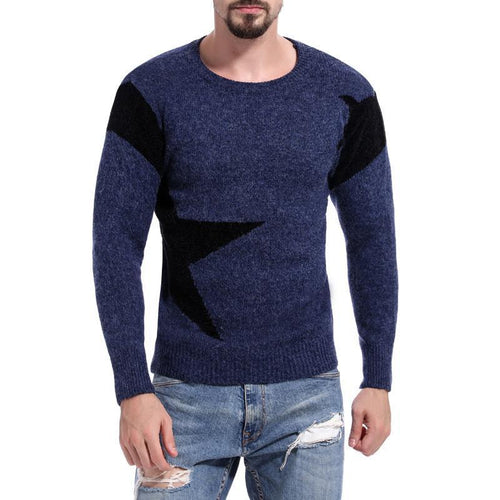 Patchwork Crew Neck Sweater