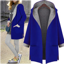 Load image into Gallery viewer, Hooded Cardigan Wool Coat Loose Overcoat