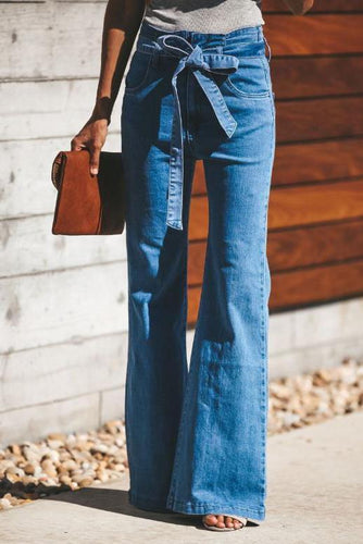 Fashion Casual Slim Solid Color Denim Pants