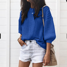Load image into Gallery viewer, Fashion Latern Sleeve Loose Fit Sweater