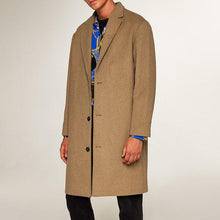 Load image into Gallery viewer, Gentle Plain Lapel Collar Loose Business Long Woolen Coat