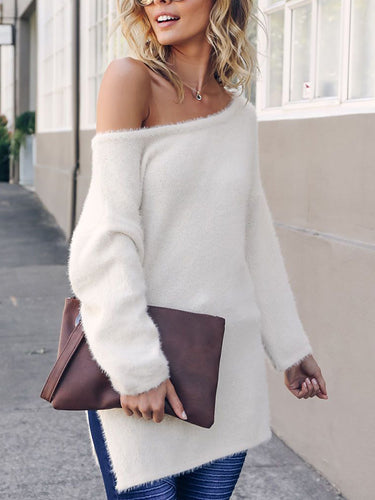 Fashion Pullover Round Neck Long Sleeve Knit Sweater