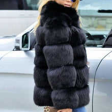 Load image into Gallery viewer, Faux Fur Long Sleeve Fashion Winter Coats