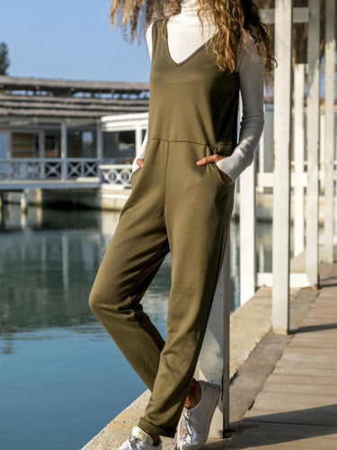 Casual Stylish Pocket Jumpsuit