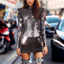 Load image into Gallery viewer, Sequined Hip Long Sleeve Dress