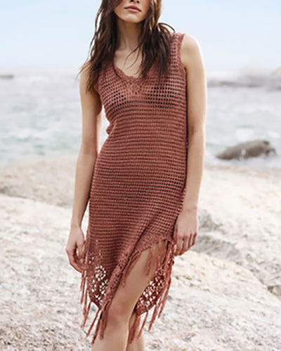 Fashion Knit Beach Vest Dress