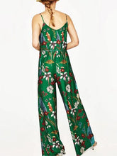 Load image into Gallery viewer, Fashion Joker Slim Thin Casual Harness Flower Print Jumpsuit