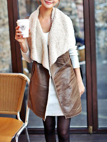 Fashion Slim Mid-Length Woolen Vest