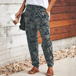 Fashion Camouflage Slim Casual Pants