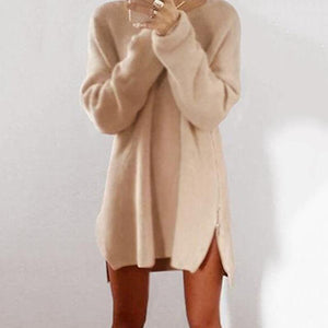 Round Collar Casual Long Sleeve Oversized Sweater