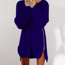 Load image into Gallery viewer, Round Collar Casual Long Sleeve Oversized Sweater