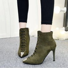 Load image into Gallery viewer, Fashion Suede Pointed Stiletto High Heel Knight Boots