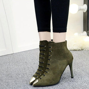 Fashion Suede Pointed Stiletto High Heel Knight Boots