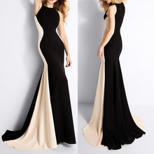Load image into Gallery viewer, Sleeveless Spell Color Slim Evening Dress