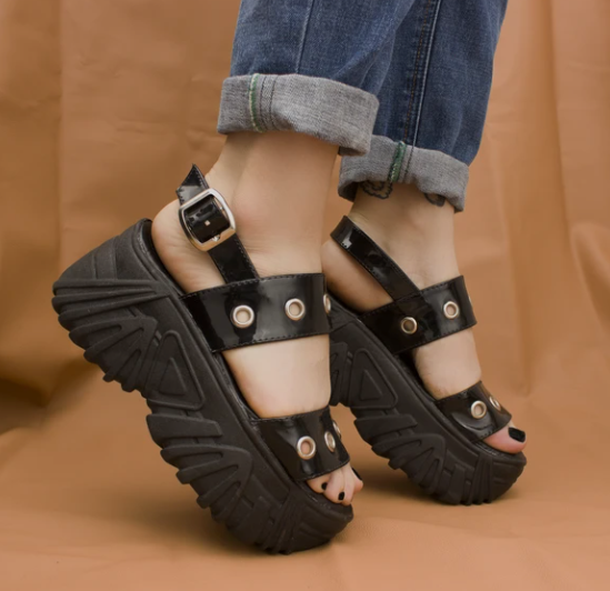 Sandalias Black Tower
