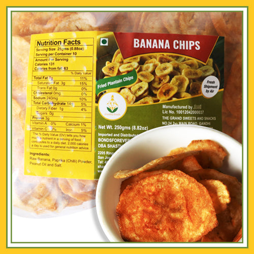 Grand Sweets & Snacks -  Banana Chips (250 Gms)