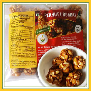 Grand Sweets & Snacks - Peanut / Groundnut Urundai (250 Gms)