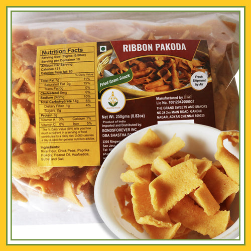 The Grand Sweets and Snacks Ribbon Pakoda - 250g