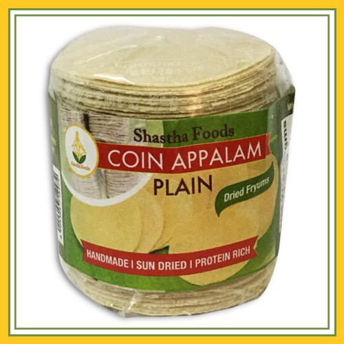 Shastha Coin Appalam Plain (100 gms)