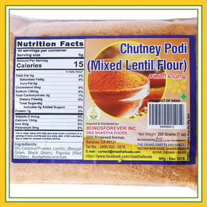 Grand Sweets & Snacks - Chutney Podi (200 Gms)