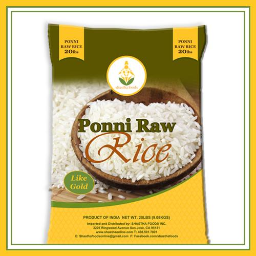 Shastha Ponni Raw Rice 20 lbs