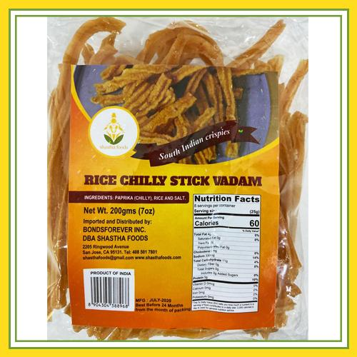 Shastha Rice Chilly Stick Vadam 200g