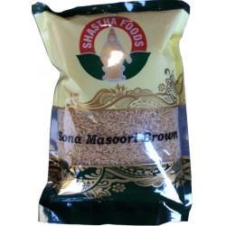 Shastha Brown Sona Masoori Rice 1.25 Lbs