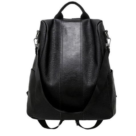 Anti-Theft Leather Fashion Backpack - The Traveler's Essentials