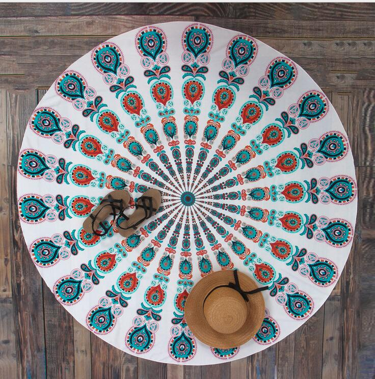 New Printed Round Quick Dry Beach Towel - The Traveler's Essentials